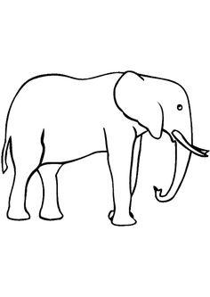 Jeu de coloriage d 39 un petit singe avec son cartable singe pinterest - Dessin d un elephant ...