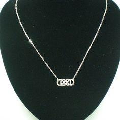 Revenge Double Infinity X Infinity Silver Necklace. $32.00, via Etsy.