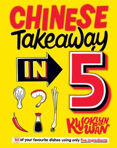 Kwoklyn Wan is back with 80 classic Chinese dishes that use only five ingredients. Alongside a basic store cupboard of five essentials, salt, pepper, soy sauce, sugar and oil, you can make a feast of easy dishes using the bare minimum