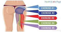 Many of us have problems with weakness in their butt muscles because of the sedentary lifestyle we lead. The glutes are the muscles that suffer. Fitness Po, Video Fitness, Fitness Weightloss, Body Fitness, Best Bum Exercises, Upper Glute Exercises, Gluteal Muscles, Bum Workout, Workout Fitness