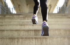 Running stairs.