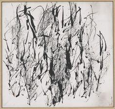 """「習作」 1954年 墨、和紙<a href=""""images/photo_2.jpg"""" target=""""_blank""""> [別ウィンドウで表示]</a>"""