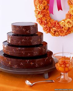 Chocolate Cakes: Chocolate Kumquat Cake - Martha Stewart Weddings Planning & Tools