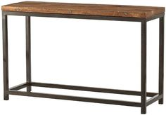 Holbrook Console Table - 48x16x30 $429 mango wood with iron base; two colors available