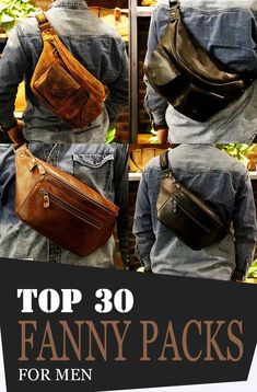 Fanny packs also provide plenty of benefits and advantages. Just like what we've mentioned earlier, they are lightweight, meaning easy to carry! Leather Bum Bags, Leather Fanny Pack, Leather Purses, Leather Men, One Shoulder Backpack, Side Bags, Denim Bag, Waist Pack, Easy