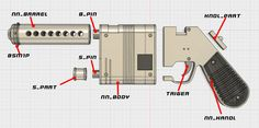 Rey's LPA NN-14 blaster pistol - Google Search