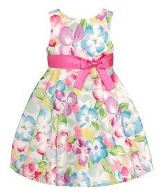 Blue Floral Dress - Infant  Toddler