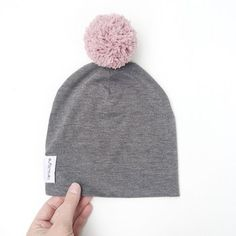 Grey Baby Slouchy Beanie, modern baby slouch hat, genderless hat, baby shower gift, Slouch hat with pom pom, handmade by VeraJayne Slouchy Beanie, Pom Pom Hat, Baby Accessories, Baby Hats, Baby Shower Gifts, Diy And Crafts, Winter Hats, Handmade Items, Daughter
