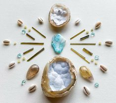 Crystal Mandala, Air Signs, Abundance, Clarity, Minerals, Shells, Quartz, Crystals, Water