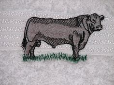 This Black Angus Bull Hand Towel Personalized is a great gift idea for any ANGUS CATTLE bathroom. You are purchasing one towel with the person's first name or farm name embroidered on the towel (embroidery letters are less than 1 inch tall). You can choose the color of the embroidery thread for the name or we will just use black. You can let us know at the time of purchase your color choice or email us.   Thank you for your Business.