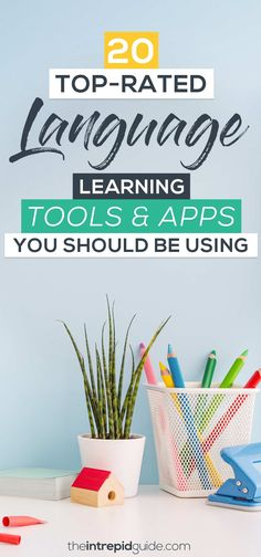 Top Rated Language Learning Tools & Apps You Should Use in 2020 Best Language Learning Apps, Learning Languages Tips, German Language Learning, Learn A New Language, Learning Tools, Learning Resources, Learn Languages, Foreign Languages, Learning Shapes
