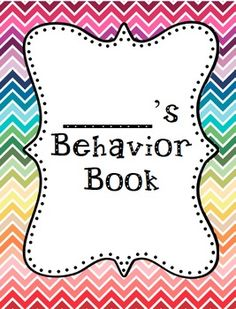 Here is a resource to make a behavior book for those students who need more behavioral support. There are three cover options and a behavior page to copy. I copy a few months worth of behavior pages and bind them together to make the book. Then I fill out a page each day.