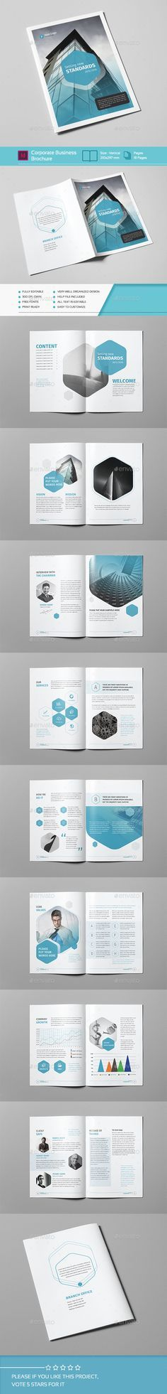 "Corporate Business Brochure 18 Pages A4 Template PSD <a class=""pintag"" href=""/explore/design/"" title=""#design explore Pinterest"">#design</a> Download: <a href=""http://graphicriver.net/item/corporate-business-brochure-18-pages-a4/13909294?ref=ksioks"" rel=""nofollow"" target=""_blank"">graphicriver.net/...</a>"