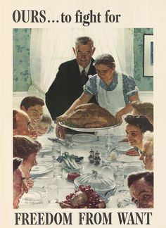 Freedom from Want. 1943 Norman Rockwell (USA)