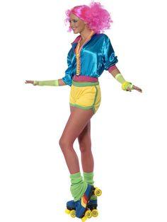 80's Neon Skater Girl Costume