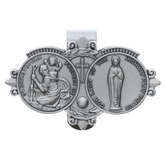 St. Christopher and Our Lady of the Highway Visor Clip