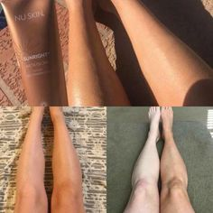 Self-Tanning Gel! Give yourself a shiny natural glow, right at home, without the sun, tanning beds or sprays! Best Tanning Lotion, Self Tanning Lotions, Sun Tanning, Nu Skin, Tan Before And After, How To Tan, Bronze Skin, Curly Girl Method, Beauty Box