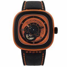 SEVEN FRIDAY HERREN & DAMEN AUTOMATIKWERK SCHWARZ LEDER ARMBAND UHR P1-3 | Your #1 Source for Watches and Accessories
