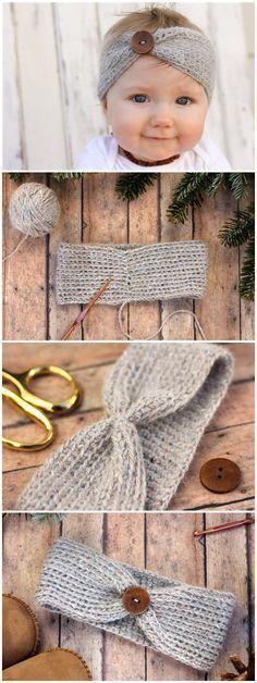 aspen Socialite Free Crochet Headband Pattern - Wollenes for Ki . aspen Socialite Free Crochet Headband Pattern - Woolen for kids Knitting works are the time when ladies sp. Bandeau Crochet, Crochet Headband Free, Pull Crochet, Crochet Beanie, Headband Baby, Knit Hats, Learn Crochet, Knit Headband Pattern, Beanie Pattern