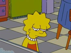 Lisa looking sad - simpsons - lisa simpson, the simpsons и s The Simpsons, Simpsons Meme, Simpsons Quotes, Sad Wallpaper, Cartoon Wallpaper, Simpson Tumblr, Memes Estúpidos, Animated Icons, Cartoon Icons