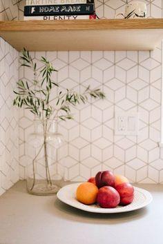 Beautiful Backsplash Designs That Aren't Subway Tile — Hadija Rowe Kitchen Redo, New Kitchen, Space Kitchen, Kitchen Makeovers, Home Design, Design Ideas, Fireclay Tile, Subway Tile Kitchen, Updated Kitchen