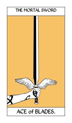 Shadowhunter Tarot Cards, The Mortal Sword ; art by Cassandra Jean