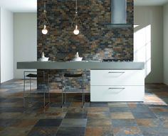Natural Slate porcelain floor tile — Ceramic Tileworks