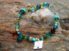 Dreams of the Serpentine Sea -Handmade Beaded Bracelet by Leftovers4Dinner on Etsy