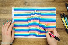 Handimania has created an awesome tutorial video that demonstrates how to draw a fun 3D optical illusion of your hand. All you need is paper, a pencil, and some colorful markers.