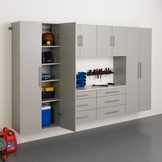 6-piece Stone Grey Storage Cabinet Set I