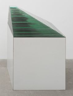 "Robert Smithson ~ Mirror Stratum, 1966. Mirrors on formica-covered base, 25 1/2 x 25 1/2 x 10 1/4""  MoMA"