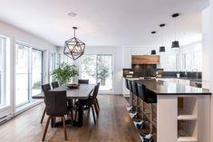 Kitchen Cabinets hickory calico white acrylic quartz Simard Kitchen and Bathro. Kitchen Cabinets h Kitchen Nook, New Kitchen, Kitchen Decor, Kitchen Design, Kitchen Cabinets, Hickory Kitchen, Small Dining Area, Dining Nook, Kitchen Furniture