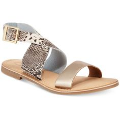 Callisto Babita Flat Sandals ($89) ❤ liked on Polyvore featuring shoes, sandals, callisto shoes, ankle wrap sandals, ankle wrap flat sandals, ankle wrap shoes and ankle strap flat sandals