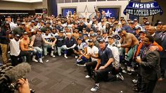 Coach told the team to give their Division Champs caps away after the win. Watch to see why... #DallasCowboys #INDvsDAL #FinishTheFight