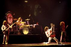 Led Zeppelin performing at Madison Square Garden, 1977