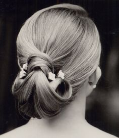 Classic hairstyle for a night on the town