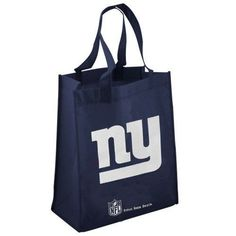 """New York Giants Navy Blue Reusable Tote Bag by Uline. $3.65. Support your favorite team while you help to protect the environment with these reusable bags. Strong and dependable even with heavy loads yet made to fold flat and take up little space and store neatly until next time your ready to use them. Each bag measures 15"""" tall x 13"""" wide x 7"""" deep with carrying handles. Made of strong synthetic 100% non-woven polypropylene these bags are environmentally safe and can be used ..."""