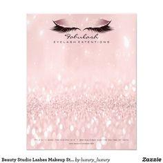 Beauty Studio Lashes Makeup Stylist Artist Pink Flyer