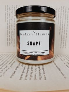 Snape Aesthetic - Harry Potter Candle Harry Potter Candles, Harry Potter Room, Glass Jars, Candle Jars, Severus Snape, Burning Candle, Scented Candles, Bridesmaids, Wicked