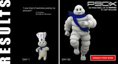 P90X Success Story. pillsbury doughboy turns into michelin man using p90x. Pillsbury Dough Boy, Food, before and after, michelin, Epic, working out, p90x