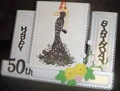 Stepper card Stepper Cards, 50th Birthday, I Card, 50th Anniversary