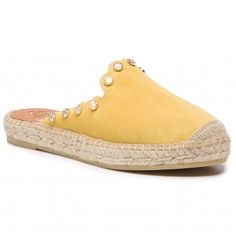 Espadrile KANNA - 19KV9560 Ante Amarillo Espadrilles, Metal, Sneakers, Shoes, Products, Fashion, Templates, Natural Leather, Flip Flops