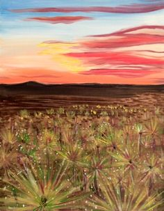 Desert of Dandelions {{Art Uncorked San Diego}} 1-9-13 class  (sold out)
