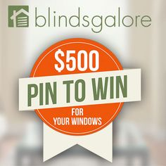 Find the decorating inspiration you have been looking for and WIN with the Blindsgalore Pin To Win Sweepstakes!  Enter from June 15, 2015 through July 31, 2015 for a chance to win $500 toward blinds and shades from Bali.