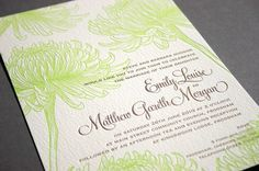 """Create a """"wow"""" factor in the minds of your invited guests with the modern style letterpress wedding invitations!"""