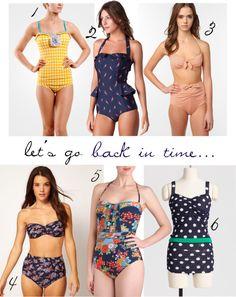 vintage retro bathing suits