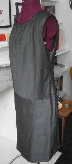 JIL SANDER GREY SLEEVELESS DRESS MEDIUM | eBay