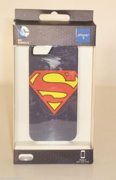 #ONSALENOW - New Open Box Superman DC Comics Distressed Emblems Hard Case for iPhone 5/5s