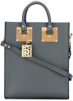 Sophie Hulme stylised stud detail shoulder bag