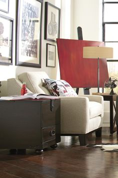 The Hadly chair brings home an upscale, contemporary look.